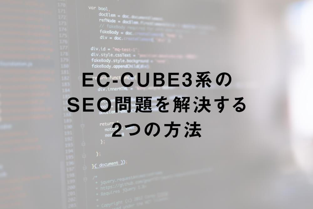 EC-CUBE3系のSEO問題を解決する2つの方法