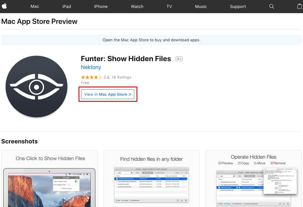 .「Mac App Store」のPC用ページに移動するので、「View in Mac App Store」をクリック