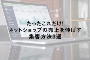 ネットショップの売上を伸ばす集客方法3選