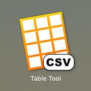 MacのCSV編集ソフト「Table Tool」
