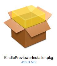 「KindlePreviewerInstaller.pkg」をダブルクリック