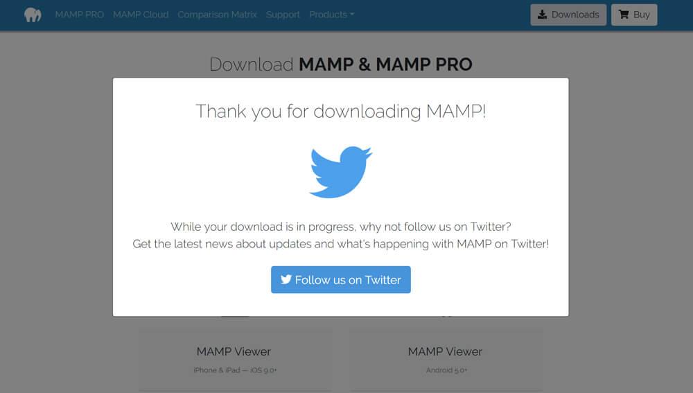 MAMPのダウンロード画面