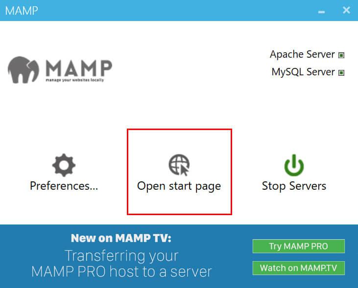 真ん中にある「Open WebStart Page」をクリック