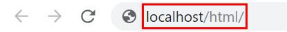 Webブラウザを立ち上げ「localhost/html/」と打ち込む