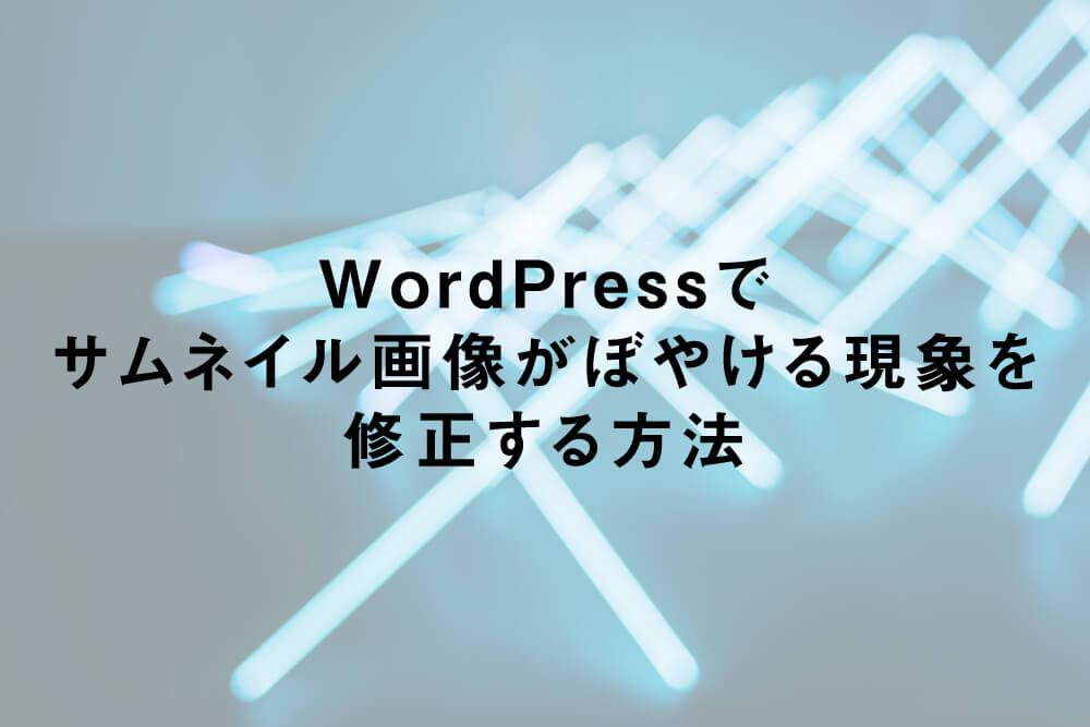 WordPressでサムネイル画像がぼやける現象を修正する方法