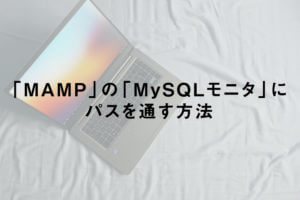 「MAMP」の「MySQLモニタ」にパスを通す方法