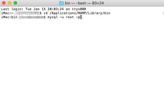 「MySQLモニタ」にログイン