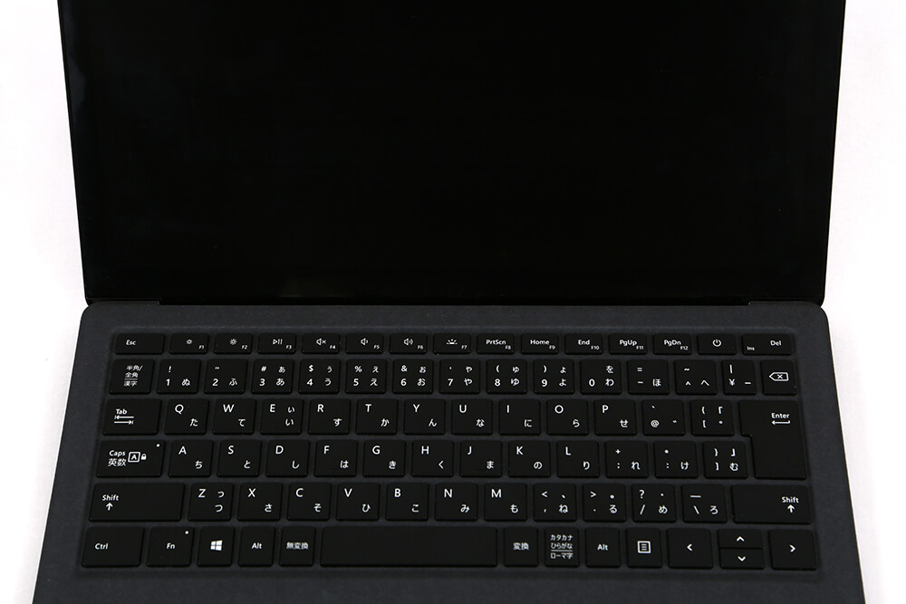 「Surface Laptop2」内側アップ画像