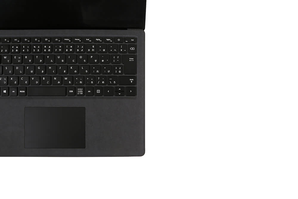 「Surface Laptop2」キーボード左アップ画像