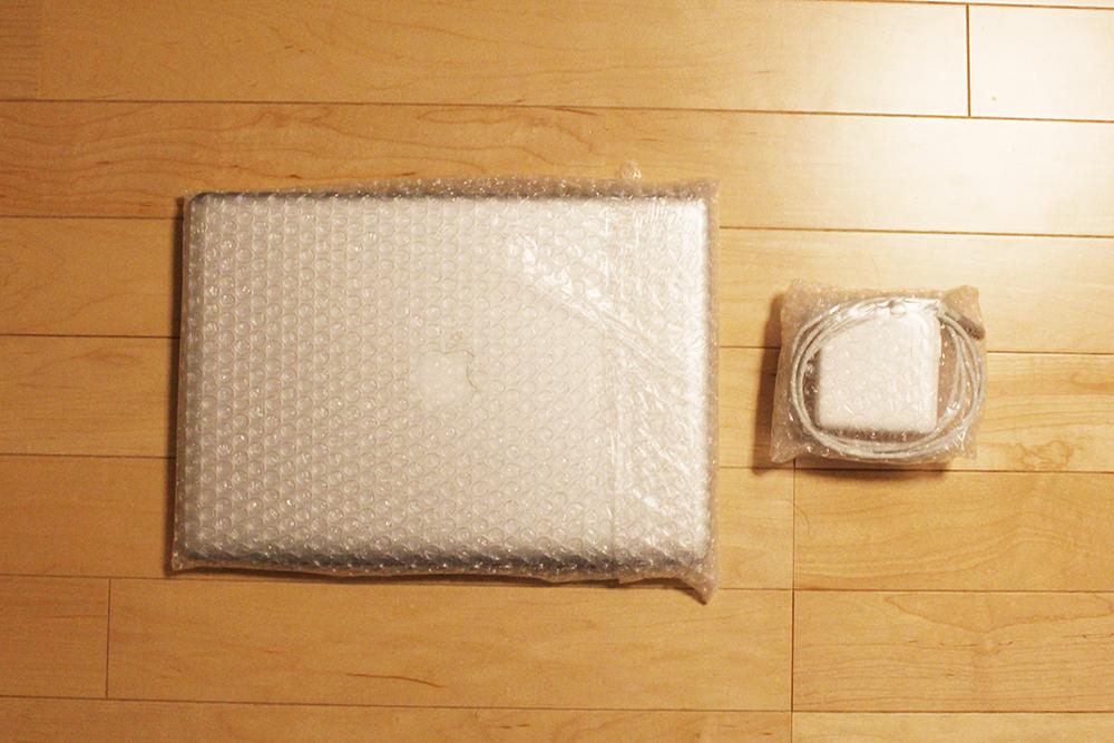 プチプチで包んだ「MacBookPro」