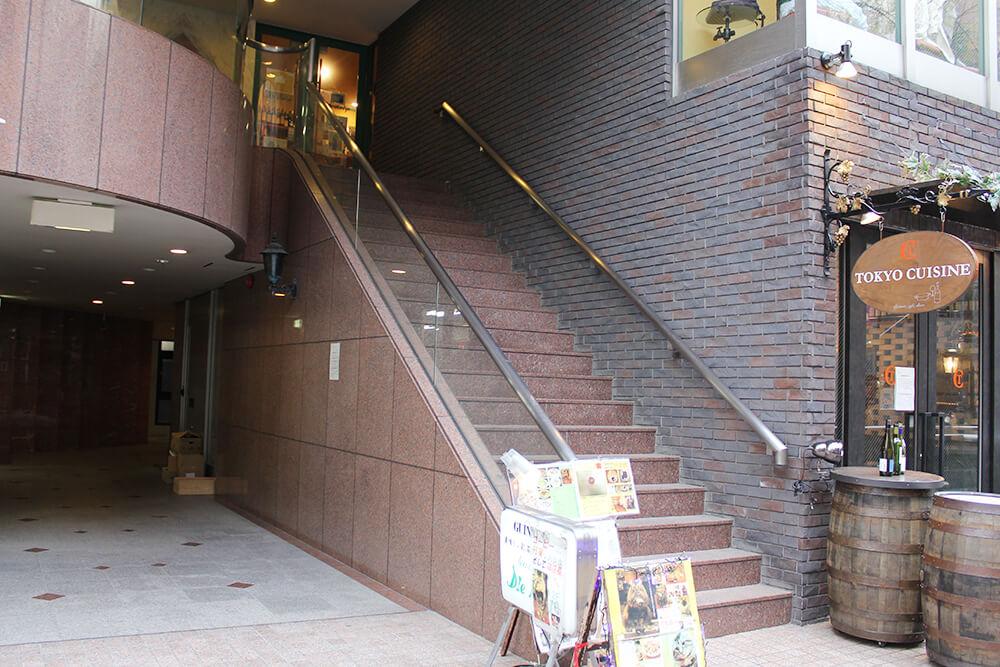 「紅茶専門店 ディー・カッツェ」への階段