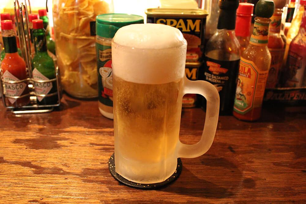 キンッキンに冷えたビール