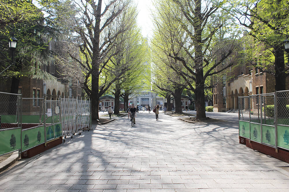 「東京大学正門」方面へ向かいます