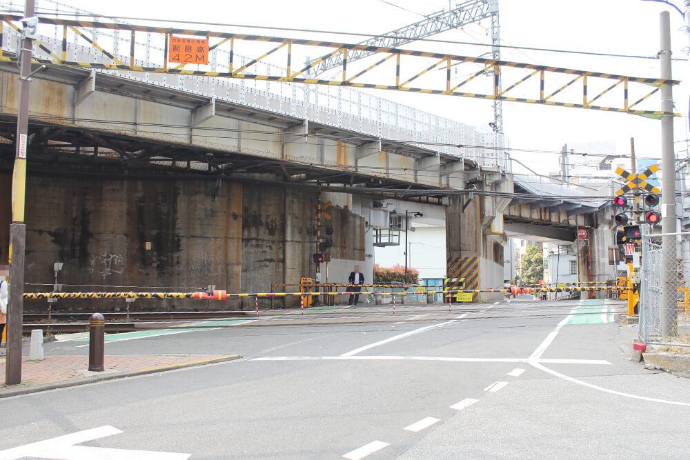 京成本線の高架下