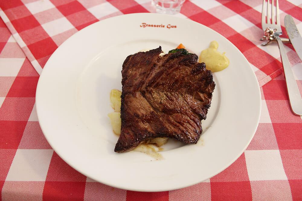 完璧な味付けのステーキ