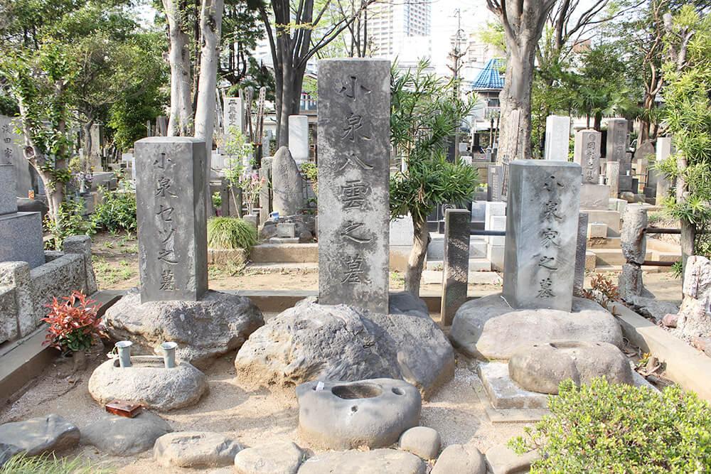 小泉八雲(ラフカディオ・ハーン)の墓石