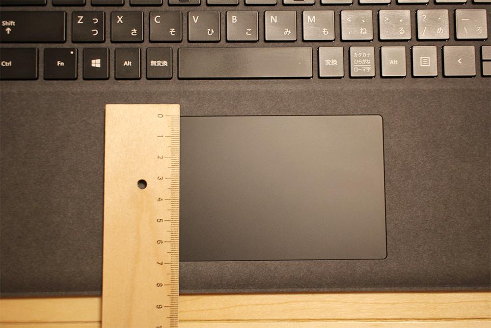 Surface Laptop 2のタッチパネルの縦幅