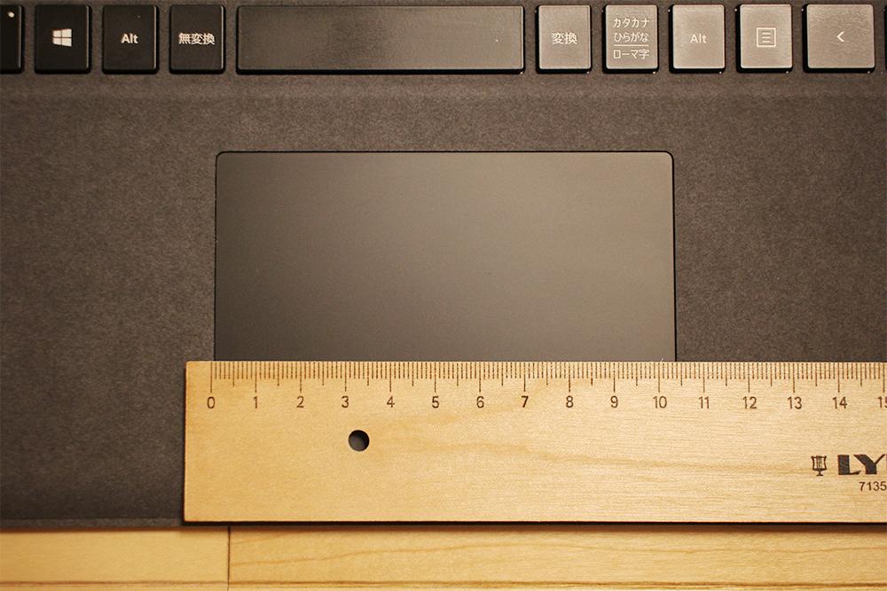 Surface Laptop 2のタッチパネルの横幅