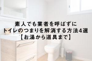 素人でも業者を呼ばずにトイレのつまりを解消する方法4選【お湯から道具まで】