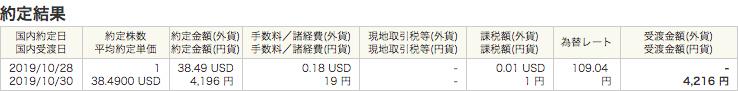 円建てでSPYDを購入した時の手数料