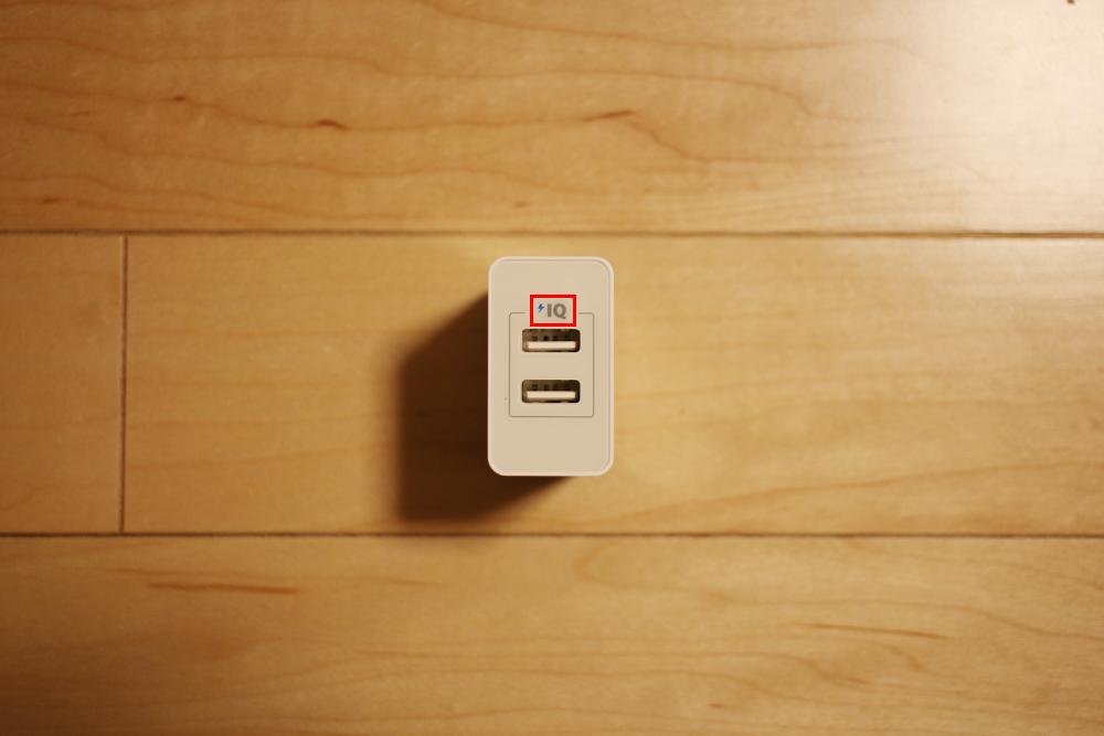 急速充電器に記載されているPowerIQのマーク