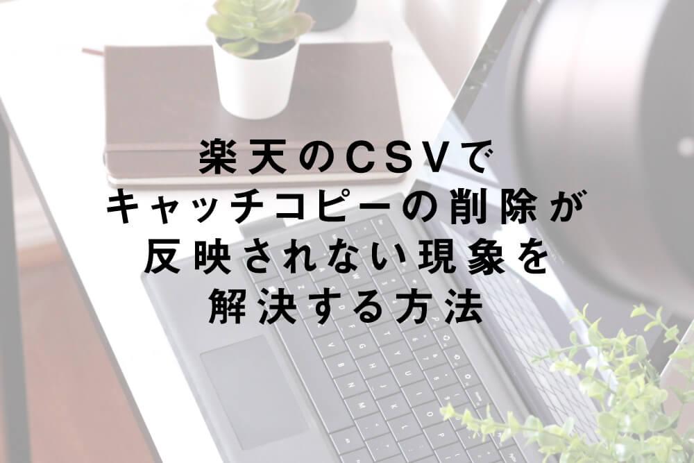 楽天のCSVでキャッチコピーの削除が反映されない現象を解決する方法
