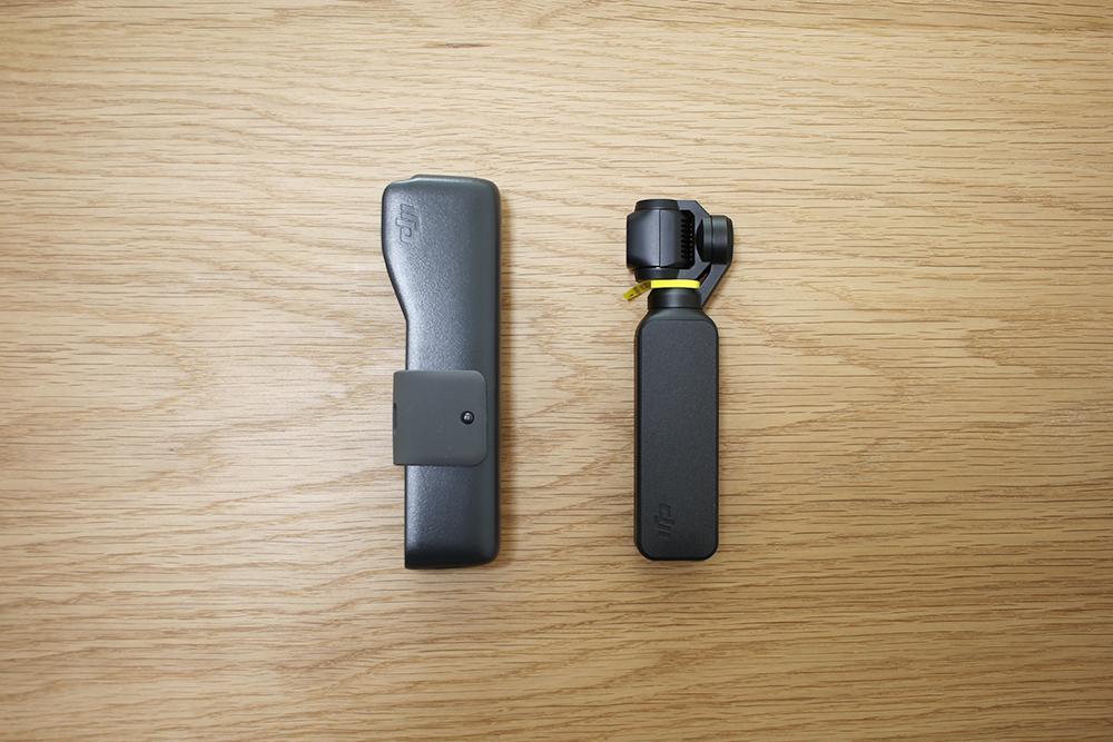 右側にあるケースの中に「Osmo Pocket」が入っています