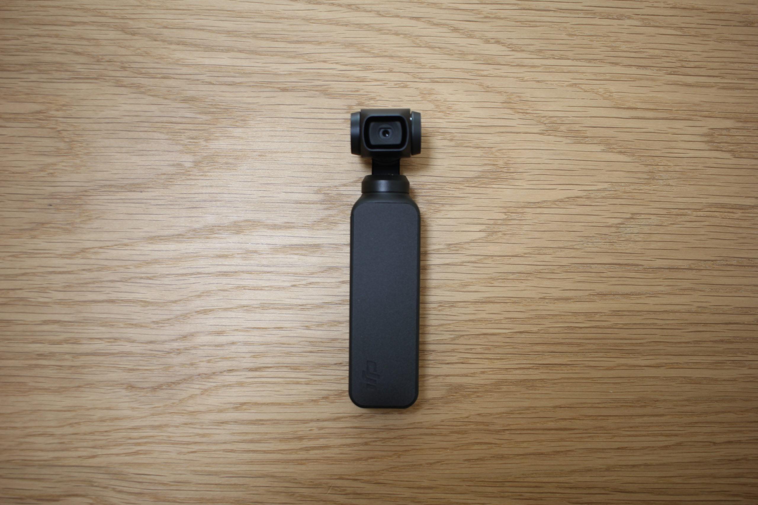 DJI「Osmo Pocket」保護フィルムはがしたあとの背面