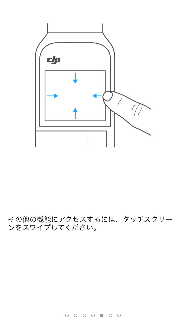 タッチスクリーンの使い方が表示されます