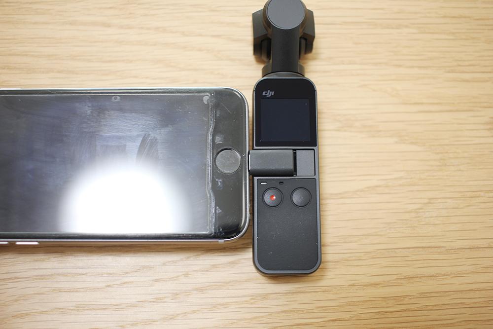 スマートフォンを「Osmo Pocket」に接続します